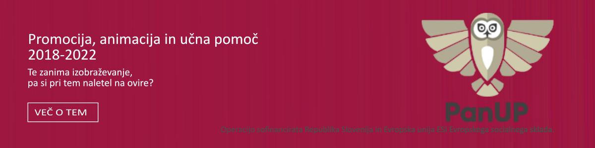 PanUP (Promocija, ANimacija in Učna Pomoč)